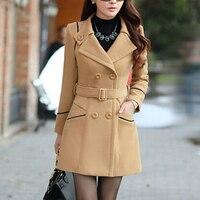 ZOGAA Brand Women's Wool Coats Winter Autumn Fashion Long Trench Coat Women Warm Clothes Slim Fit Blends Solid Woolen Overcoat