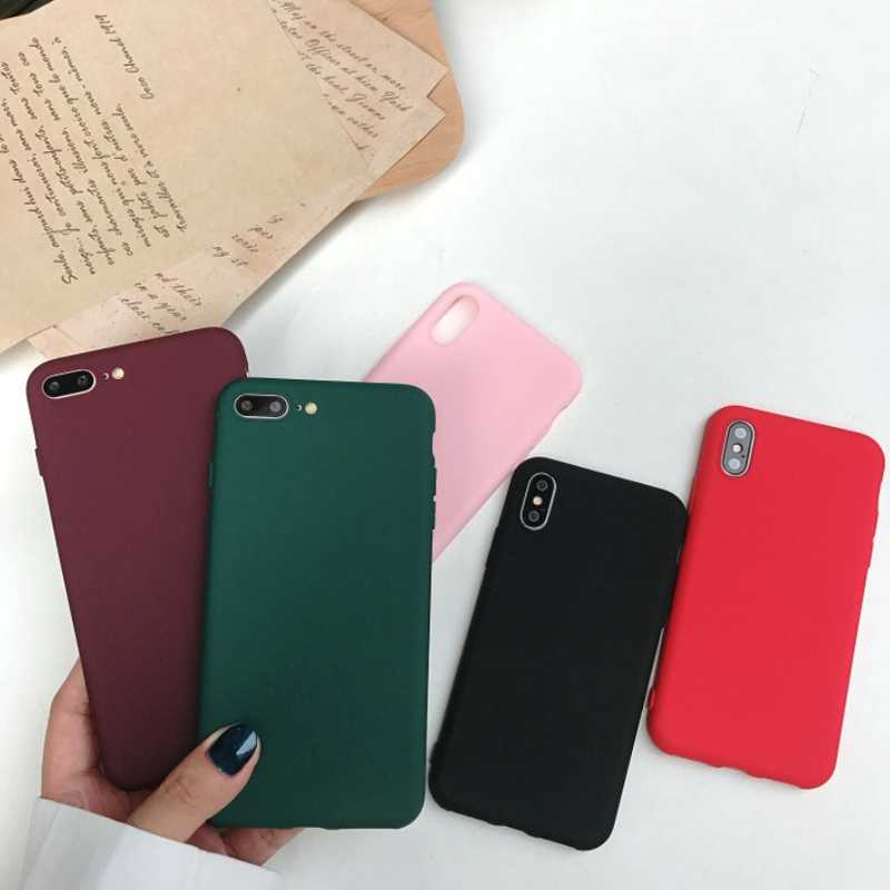 cheap for discount df307 f35a6 For iphone 8 plus case luxury for women brand soft colorful capas For  carcasa Iphone 6 s 6s 7 8 plus x xs max phone accessories