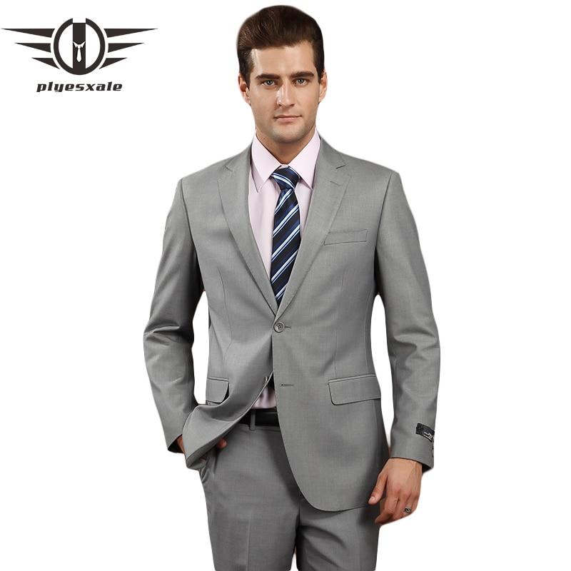 plyesxale men suits 2018 brand clothing slim fit men