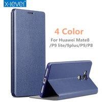 X Level Luxury Flip Phone Case For Huawei P9 Lite P9 Plus P9 P8 Case Cover