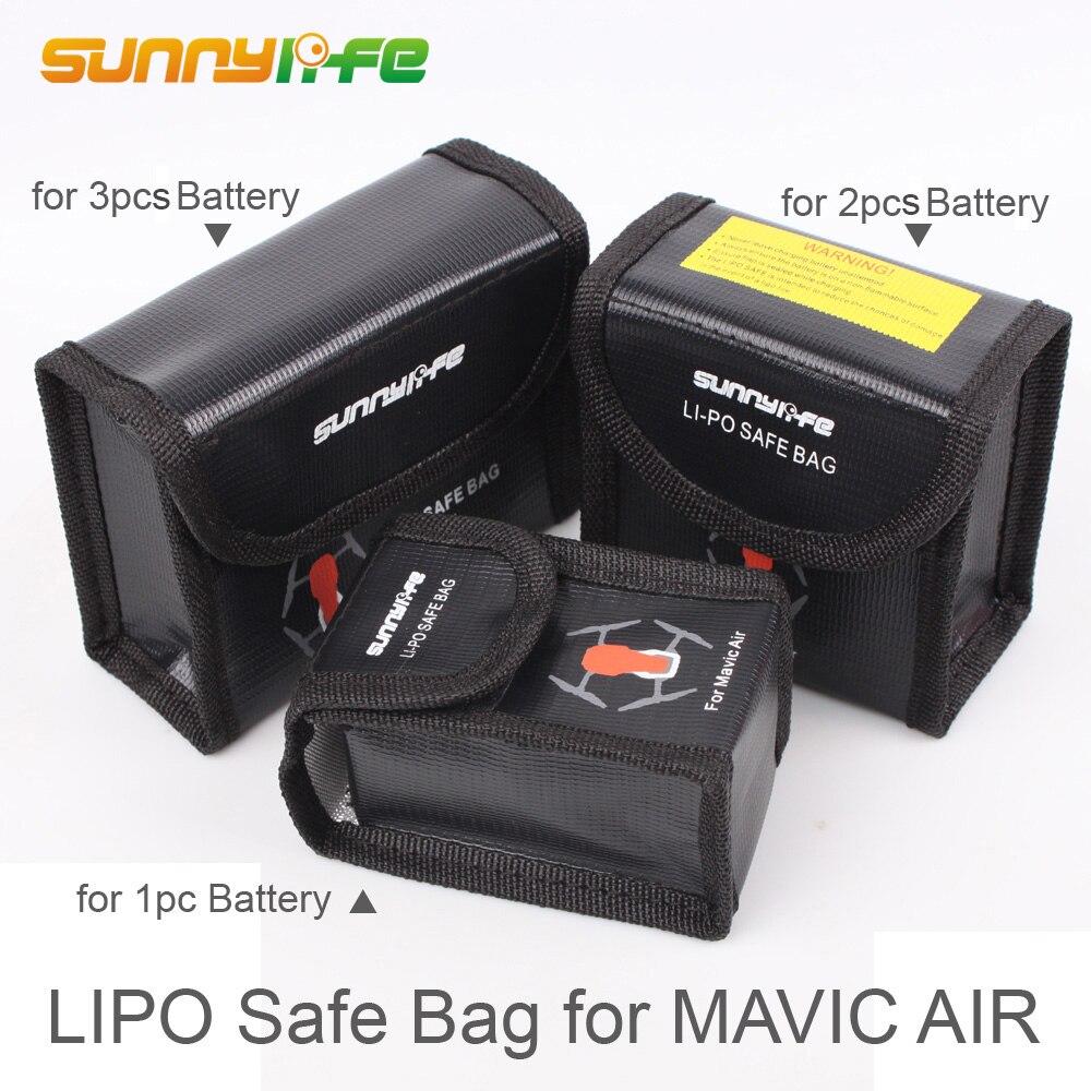 Bolsa de seguridad LiPo bolsa protectora de resistencia al calor a prueba de explosiones bolsa de almacenamiento de batería para DJI MAVIC protectores de batería de aire