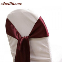 FREE SHIPPING 100 pcs wedding chair sash chair covers chair sashes satin sashes wedding swags
