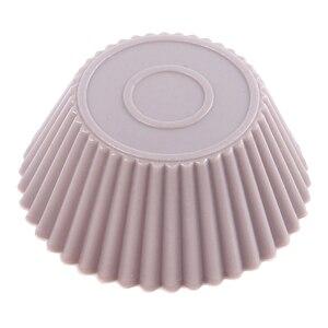 Image 4 - 12pcs/Lot Food Grade Silicone Mini Cupcake Liners Cake Tools Silicone Cake Mold Cupcake Muffin Cups