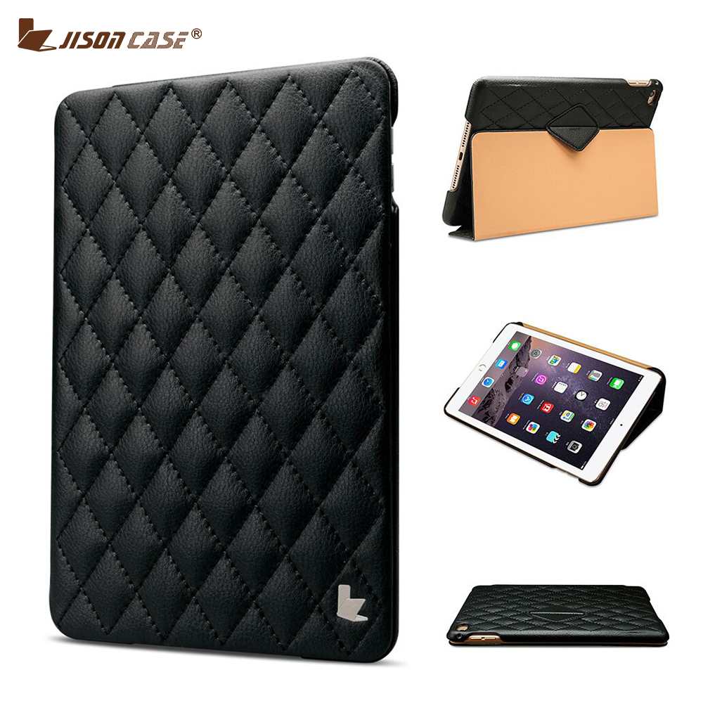 Jisoncase Original Tablet PC Cases for Apple iPad mini 4 Smart Cover Case PU Leather Flip Case for iPad mini 4 Cover with Magnet nice soft silicone back magnetic smart pu leather case for apple 2017 ipad air 1 cover new slim thin flip tpu protective case