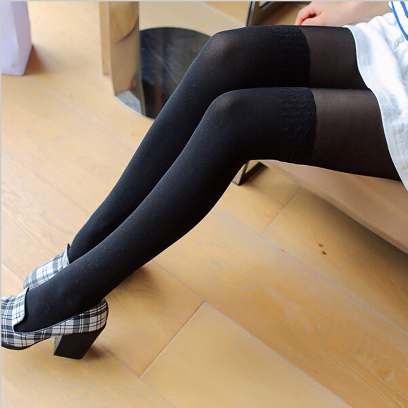 Women Lady Stockings Thigh High Elastic Sexy Sheer Lace Stockings Summer Opaque Over Knee Black Nude Colors Stock in Stockings from Underwear Sleepwears