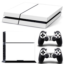 Pure White PS4 Skin PS4 Sticker For Playstation 4 + 2Pcs Controller Skins Console Stickers Protective Cover