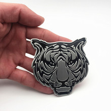 цена на Cool 3D Metal Car Animal Sticker Logo Tiger Emblem Badge Applique for BMW Audi Volkswagen Ford Honda KIA Sticker