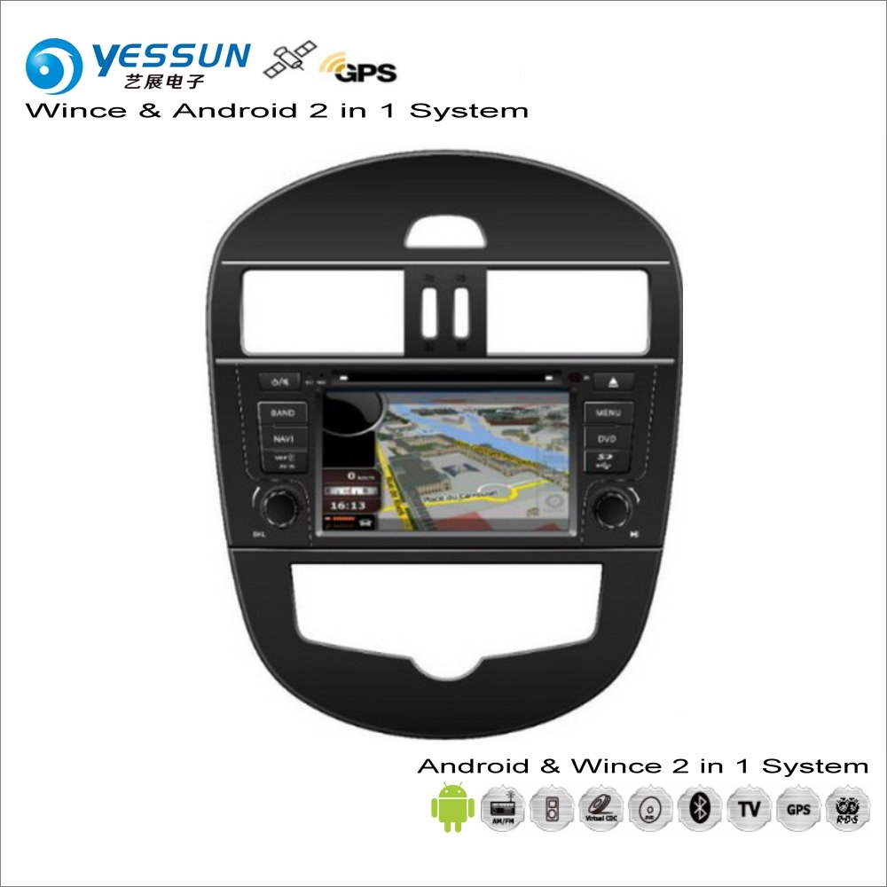 YESSUN For Nissan Tiida C12 2011~2016 Car Android Multimedia Radio CD DVD Navi Map Audio Stereo Video GPS Player Screen System