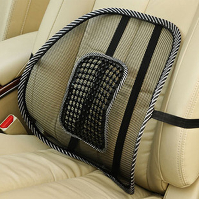 Office Chair Support Large Bed Car Seat Massage Back Lumbar Mesh Ventilate Cushion Pad 46 39cm