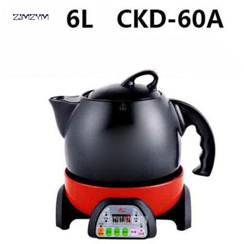 6L большая емкость сплит-керамическая Материал pots отвар горшок здоровья автоматического электричество медицины суп CKD-60A