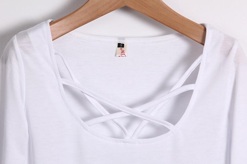 HTB1cD2oMVXXXXcsXVXXq6xXFXXX8 - Autumn T Shirt Women Long Sleeve Slim Fit Solid