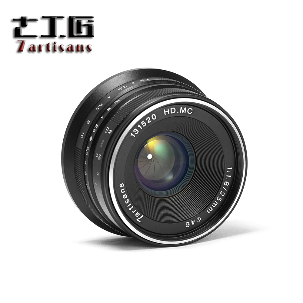 7artisans 25mm F/1.8 Prime Lens to All Single Series for Fuji / for E Mount / for Micro 4/3 Cameras A7 A7II A7R A7RII G1 G2 G3 image