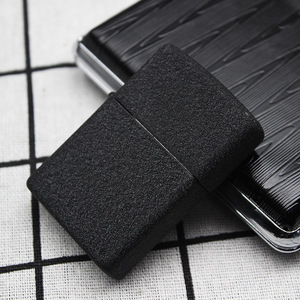 Image 2 - ขายร้อนเบนซินไฟแช็กโลหะน้ำมันก๊าดน้ำมันเบาเติม Frosted Matte Black