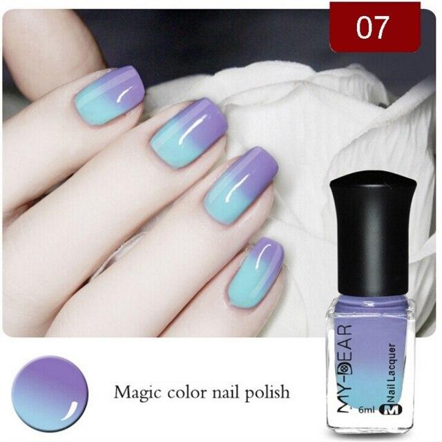 1pcs Nail Polish Peel Off Polish with Paillette Temperature Color ...
