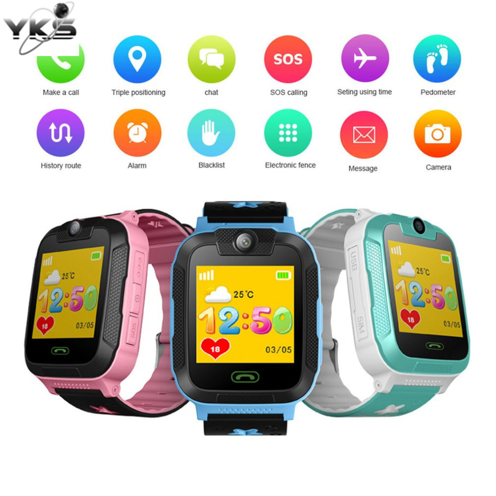 Kids Walkie Talkies Educational Smart Watch 1.4 Inch Touch Screen 3G Pedometer SIM Real Time Tracking Safety GPS Wrist Watch Toy