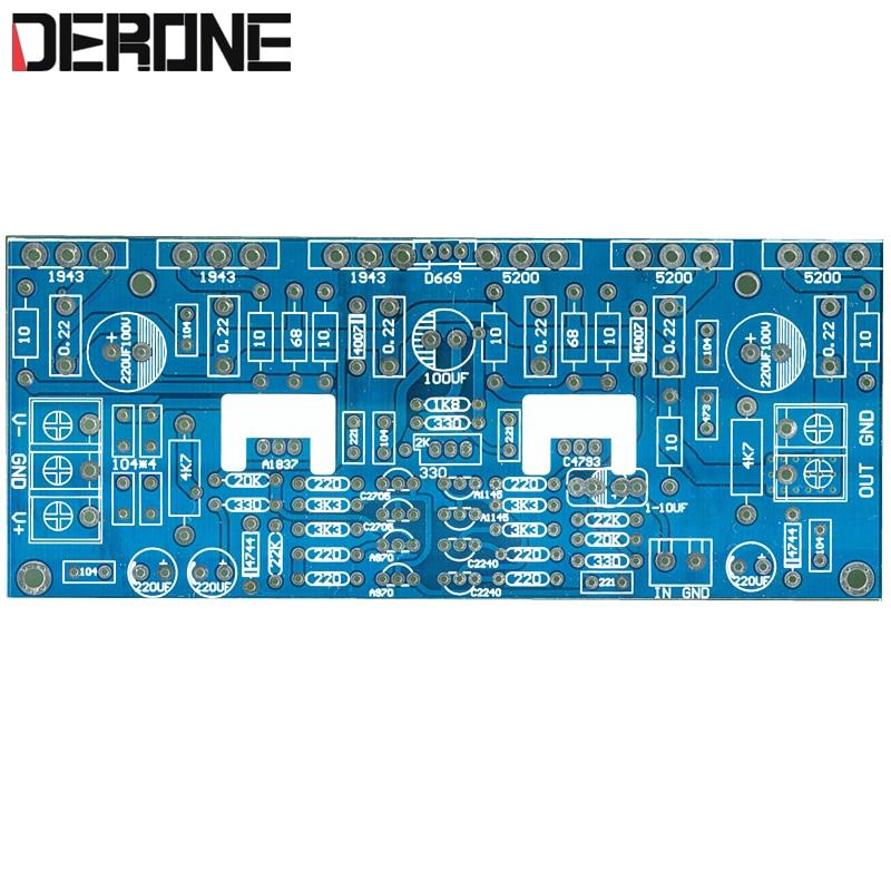 1piece 300W Mono Power Amplifier Board PCB 1943+5200 For Audiophile DIY
