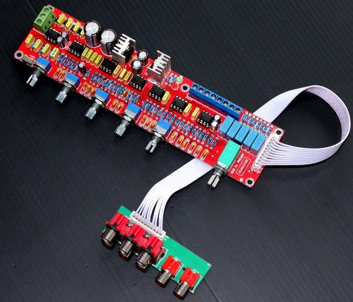 YJ NE5532 preamplifier bord dual AC12V-0-12V HIFI 5.1 tone plate volume control panel Preamp mixer board pre-amplifier board