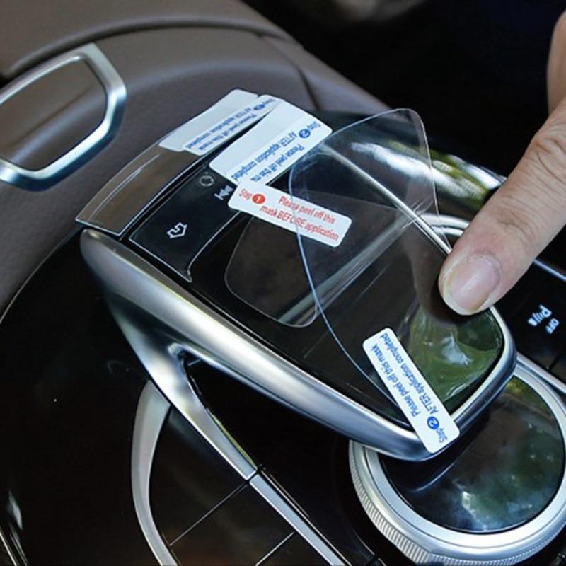 3x Merkezi Konsol Fare Dokunmatik koruyucu film Için Mercedes Benz C r E r E r E r E r E r E r E r E r E r E V GLC GLE