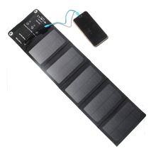 10W 2A Outdoor folding Solar Panel Solar Battery Chargers Portable source battery USB Output single-crystal silicon waterproof