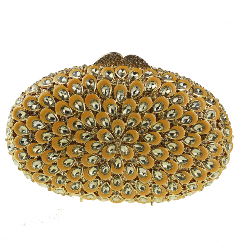oval-shaped gold clutch bag1
