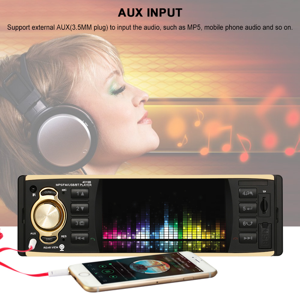 Autoradio Cassette Enregistreur Automagnitola 1 DIN Voiture Audio Radio MP5 Lecteur Multimédia Sans Fil pour mazda ford peugeot toyota vw