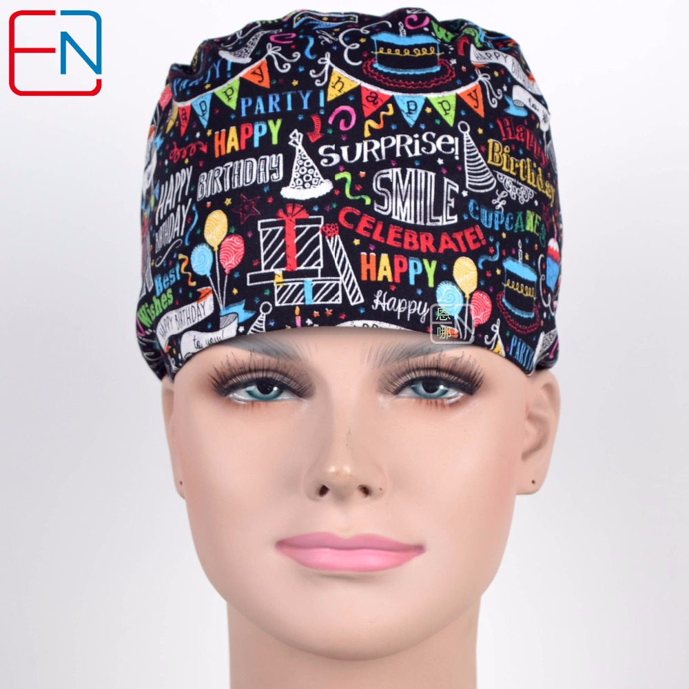 180410 Hennar Surgical Caps Medical Scrub Tops Caps With . Cotton Surgical Caps For Men Women Hats Fit Hair Surgical Unisex