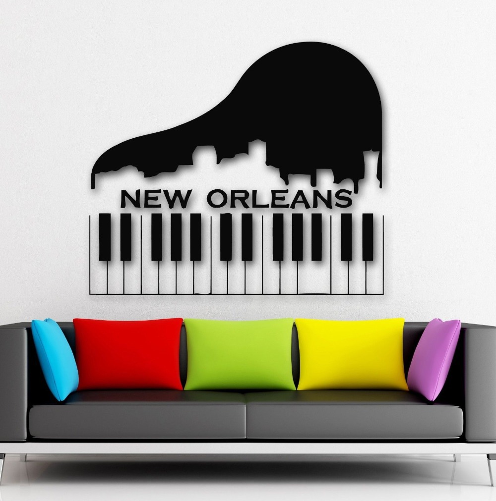 compare prices on usa wall decal online shoppingbuy low price  - wall stickers vinyl decal new orleans city usa keys piano music(china(mainland)