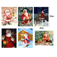5D DIY Diamond Painting Christmas Diamond Embroidery Full Rhinestones Santa Claus Cross Stitch New Year Diamonds Mosaic Decor