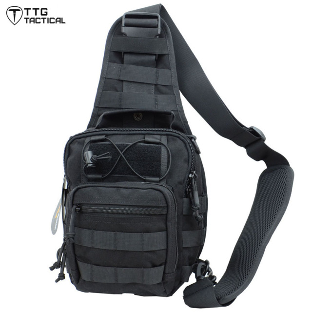8e024a8f1 Tactical Sling Bag Pack Military Rover Shoulder Sling Backpack Molle  Assault Range Everyday Carry Bag Day