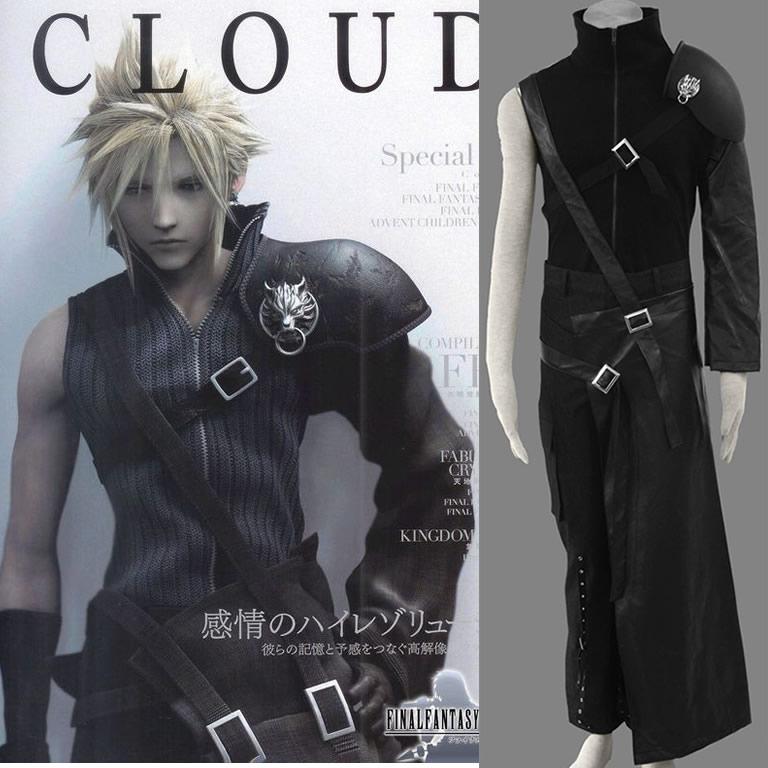 Final Fantasy VII FF7 Cloud Strife Cosplay Costume custom made
