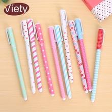Фотография 10pieces/lot creative gift cartoon floral gel pen korean student stationery kawaii school supplies
