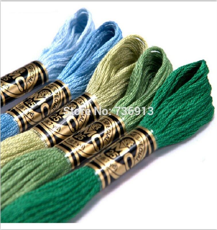 50 Pieces Original French DMC Thread Embroidery Cross Stitch Floss Yarn Thread 8 7 Yard Length