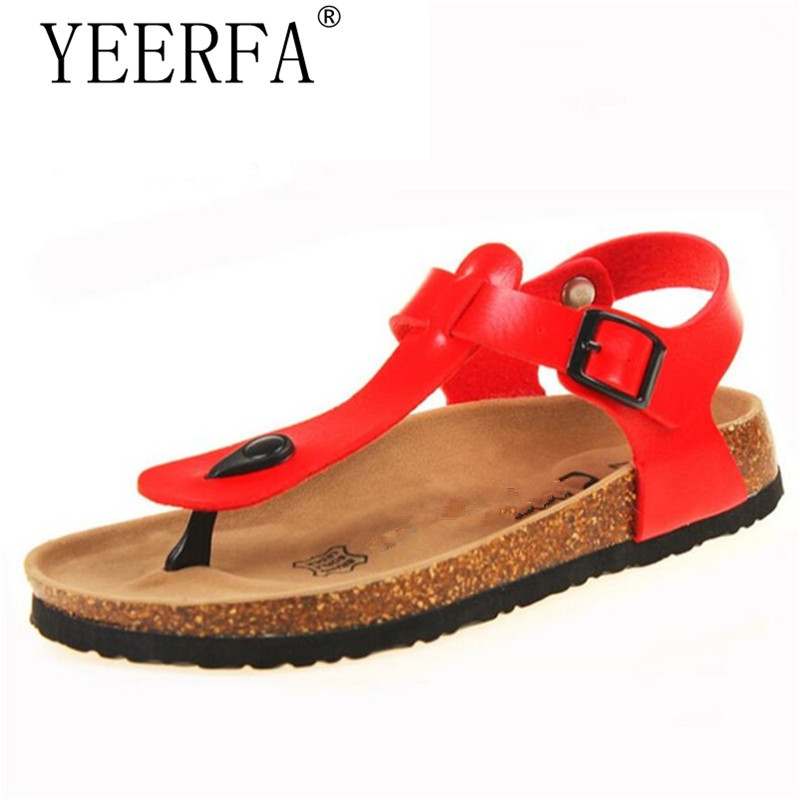 YIERFA Fashion Cork Slipper Sandals 2017 New Summer Women Patchwork Beach Slides Double Buckle Flip Flops Shoe white purple red 2017 new arrival summer fashion style casual shoe women beach sandals green lady flats slides slipper mules metal chain slip on