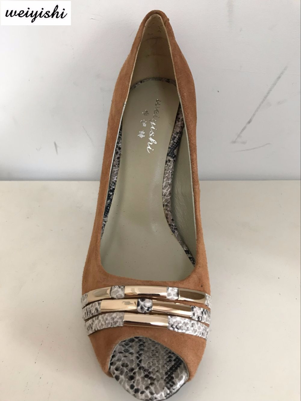 D'or Nouveau Chaussures 07 Sneake Brown Suede matériel Femmes rqXHYr