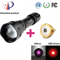 EU Product Original Brand Flashlight UF T20 Cree XRE Red Light LED Flashlight Torch Lamp IR940nm
