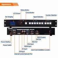 MVP508 светодиодный видео процессор бесшовные переключение видеостена контроллер для наружной рекламы светодиодный экран