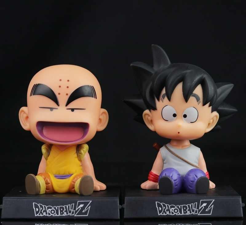 12 centímetros Dragon Ball Z Son Goku Kuririn Figura de Ação Mestre Roshi Figura de Ação Brinquedos PVC Modelo Boneca Balanço Carro collectible Modelo Toy