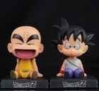 12cm Dragon Ball Z Action Figure Son Goku Krillin Master Roshi Action Figure Toys PVC Model Doll Car Swing Collectible Model Toy