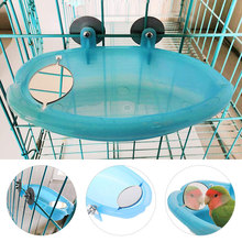 Зеленая птичья зеркальная ванна балкон наружная ветка прочная лестница и спальня клетка попугай ванна для птицы прекрасная вода Ванна пластик
