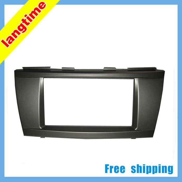 Free shipping Car refitting DVD frame DVD panel Dash Kit Fascia Radio Frame Audio frame for 06 2011 Toyota Camry 2DIN in Fascias from Automobiles Motorcycles