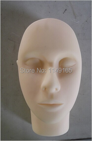 ФОТО NEW Super Rubber Practice mannequin manikin head for eyelashes extension makeup tattoo Free Shipping