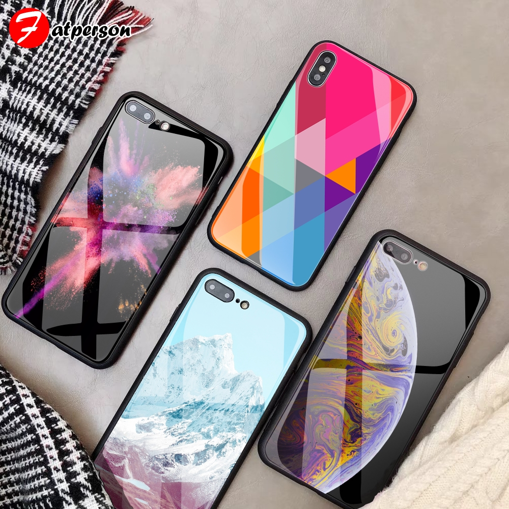 Custom case DIY Tempered Glass Phone Cover for iPhone X XR XS MAX 5 5SE SE wallpaper DIY Phone