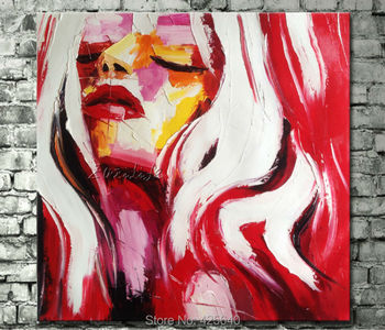 Palette knife painting portrait Palette knife Face Oil painting Impasto figure on canvas Hand painted Francoise Nielly 01