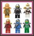 Горячие продажи ninjagoes Кай Джей Коул Зейн Nya Ллойд mit Джинн Клинге Nadakhan legoe Блоки Игрушка рождественский подарок для детей
