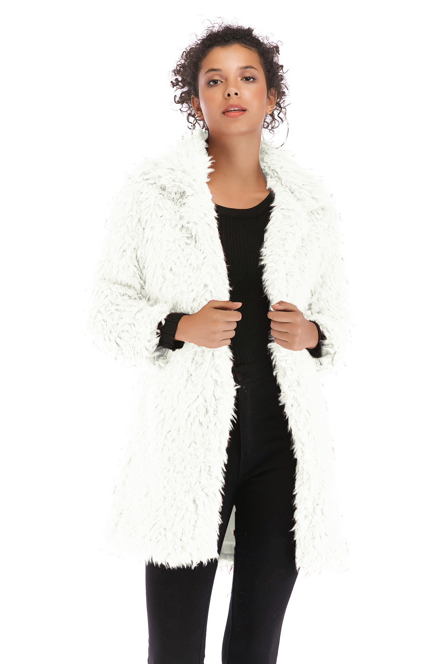 Gladiolus 2018 Women Autumn Winter Coat Turn-Down Collar Long Sleeve Covered Button Long Warm Shaggy Faux Fur Coat Women Jackets (24)