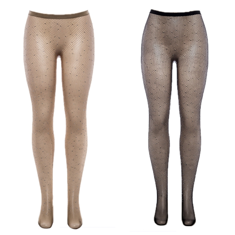 Sexy Fishnet Stockings Rhinestones Sequin Mesh Long Socks Leggings Pantyhose New sequin net tights