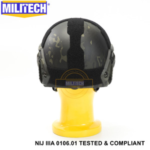 Image 5 - ISO מוסמך 2019 חדש MILITECH מרובה שחור IIIA 3A מהיר גבוהה XP לחתוך Bulletproof ארמיד בליסטי קסדה עם 5 Yrs אחריות