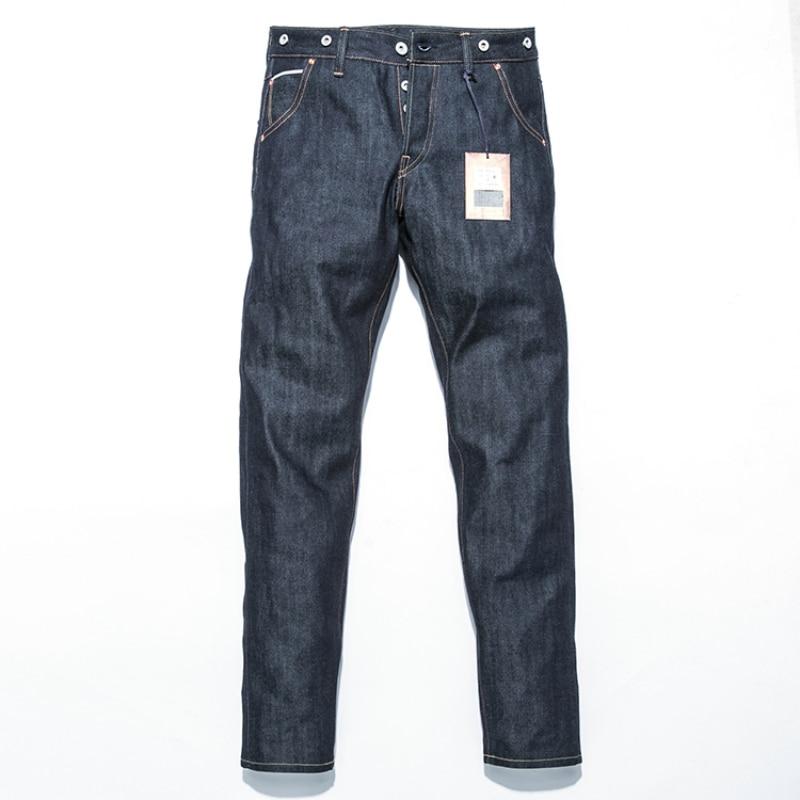 Brand Jeans Men New Arrivals vintage Pants Men's raw denim jeans Warm Slim Male Casual Straight Designer Trousers 2017 new designer korea men s jeans slim fit classic denim jeans pants straight trousers leg blue big size 30 34