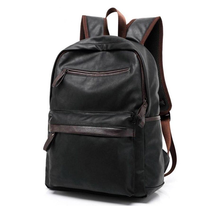 Baru pria Knapscak Eropa dan Amerika gaya preppy Perjalanan ransel Pu kulit Tas  bepergian backpacking tas si ransel mochila 04e86890e6