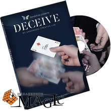 Free shipping Deceive Gimmick Material Included by SansMinds Creative Lab close up Street mentalism Classic card